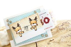 Just ME   mama elephant november stampede! card + gift combo Joy to you