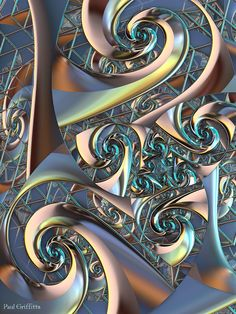"""Matrix"" 3d fractal art Mandelbulb 3d Paul Griffitts"
