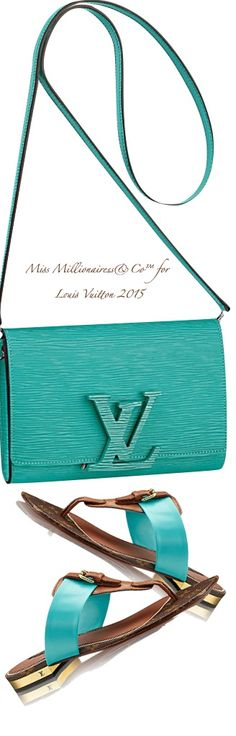 Louis Vuitton ~ Aqua Leather Shoulder Bag + Sandal 2015, liked by www.cosmeticsdelux.blogspot.gr