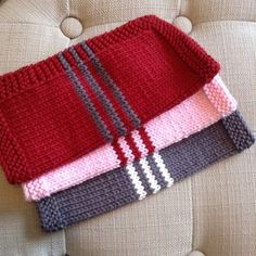 French Stripe Dishcloth By Megan Delorme - Free Knitted Pattern - (ravelry)