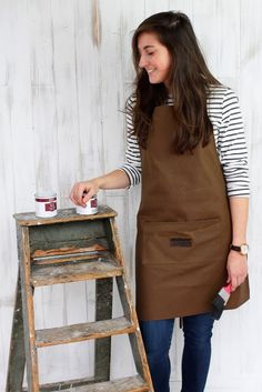 We are very excited about our best selling gift so far this year, our Leather and Canvas Aprons. We've got 3 different styles that make wonderful gifts for Uk Fashion, Aprons, Different Styles, Beautiful Things, Canvas, Leather, Blog, How To Wear, Furniture