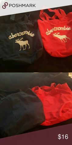 Abercrombie totes 1 Navy blue 1 red perfect for books, clothes etc. Abercrombie & Fitch Bags Totes