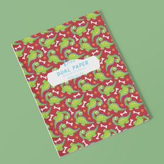 For all the dinosaur loving kids out there. Dual Pages: Alternating Wide Lined and Blank Pages Notebook for Kids #notebooksforkids #dinosaurs #schoolbooks Blank Page Notebook, Dinosaurs, Homeschool, Notes, Writing, Paper, Kids, Children, Boys