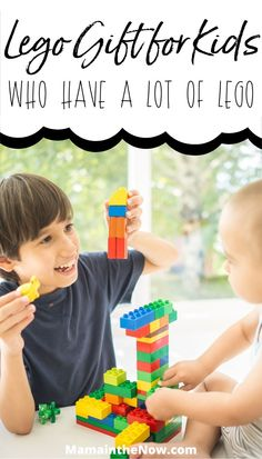 """These LEGO gifts are perfect for kids who already have too much LEGO. Your kid will LOVE these gifts. While there's no such thing as """"too much LEGO"""" it can feel like that! Give these gifts for your LEGO fan with confidence. LEGO gift ideas for LEGO fans. #LEGO #LEGOGifts #LEGOforkids #LEGOIdeas #MamaintheNow Steam Learning, Learning Tools, Fun Learning, Teaching Kids, Steam Activities, Writing Activities, Lego Decorations, Lego Gifts, Lego For Kids"""