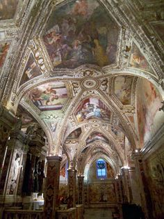 Ceiling of the Amalfi cathedral in Amalfi, Italy. http://www.traveladdicts.net/2009/04/amalfi-coast.html