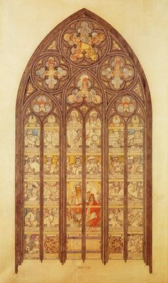 Design For A Stained Glass Window In Saint Vitus Cathedral by Alphonse Mucha