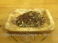 Thai Lemon Ginger Rooibos Tea.  Lemony with just enough ginger to spice it up just a tad.