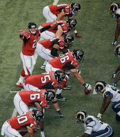 Atlanta Falcons quarterback Matt Ryan works against the St. Louis Rams during the second half of an NFL football game, Sunday, Sept. in Atlanta. Football Rules, Falcons Football, Nfl Football Games, Football Photos, Sport Football, Sports Teams, Canadian Football, American Football, Atlanta Falcons Rise Up