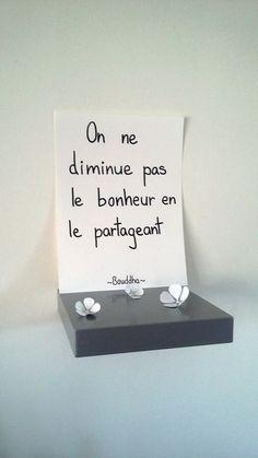 """affiche citation """" on ne diminue pas le bonheur en le partageant """" : Affiches…"""