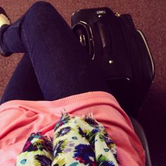 Airport Outfit #springbreak #neon