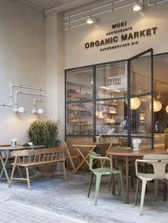 5 Restaurants Inspired By The Mid-Century Interior Design of the Organic Restaurant, Pizza Restaurant, Modern Restaurant, Restaurant Ideas, Luxury Restaurant, Restaurant Concept, Cafe Bistro, Cafe Bar, Deco Cafe