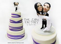 cartoon wedding cake