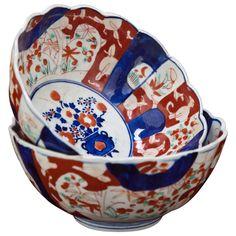 1stdibs | Pair Antique Imari Bowls ca. 1880