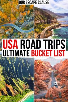 From beaches to deserts to city lights: no matter what your interests, here are the best road trips for your USA bucket list! best road trips in usa Us Road Trip, Family Road Trips, Road Trip Hacks, Best Road Trips, Family Vacations, Family Travel, Usa Places To Visit, Places To Travel, Places To Go
