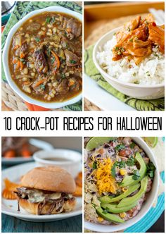 10 Crock-Pot Recipes for Halloween from The Food Charlatan. If they eat dinner they won't eat so much candy. Crock Pot Slow Cooker, Crock Pot Cooking, Slow Cooker Recipes, Crockpot Recipes, Soup Recipes, Cooking Recipes, Dinner Recipes, Healthy Meals For Two, Quick Meals