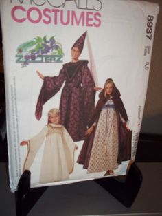 McCall's #8937 Sewing Pattern Childrens Girls Medieval Costume 5 6  Uncut FF #artsandcraftsforadults
