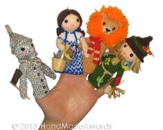 The Wizard of Oz Finger PUPPETS PDF Emal Knit by HandMadeAwards