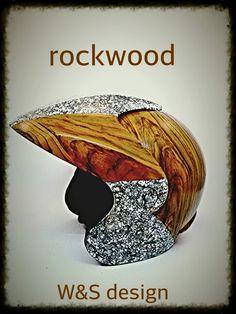 Wood & Stone helmet painting