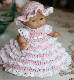 southern belle pattern | PATTERN Crochet 5 inch Berenguer Baby Doll by charpatterns on Etsy