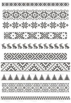 borders, embroidery stock vector art 7609624 - iStock