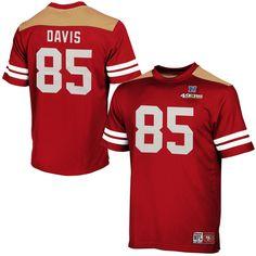Vernon Davis San Francisco 49ers Majestic Hashmark II T-Shirt - Scarlet - $29.99