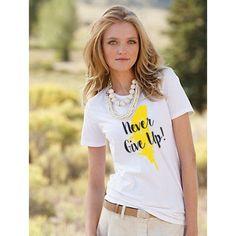 When even your #tee is positive! #women #tshirt #design #nvgvp