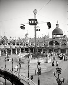 "Coney Island, New York, circa 1905. ""Whirl of the Whirl, Luna Park."""