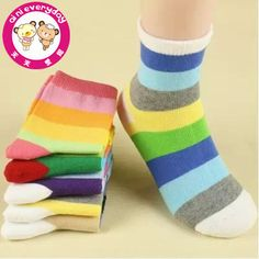 10pairs/lot children's socks for boys girls new 2014 brand rainbow striped short sock British style suit 1-12year wholesale