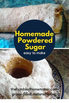 This DIY powdered sugar recipe is a baking game changer! I'm so glad I found this delicious and easy to make recipe. Good Healthy Recipes, Healthy Treats, Real Food Recipes, Dessert Recipes, Yummy Food, Healthy Food, Desserts, Baking Games, Easy Weekday Meals