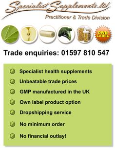 If you are in the natural health industry and are looking to boost profits, stand out from your competitors and minimise your workload, our trade division's products and services are for you! Visit our website or call us to find out more!