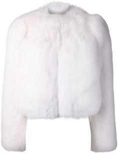 Shop for iconic bolero jacket by Saint Laurent at ShopStyle. White Bolero Jacket, White Fur Jacket, White Cropped Jacket, Pink Fur Coat, Fox Fur Coat, Cropped Jackets, Lila Outfits, Fabulous Furs, Cyberpunk Fashion