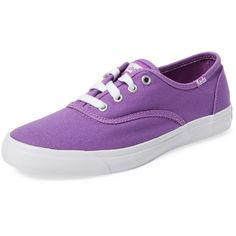 Keds Triumph Canvas Sneaker ($35) ❤ liked on Polyvore featuring shoes, sneakers, purple, lace up shoes, purple sneakers, keds, low top canvas sneakers and laced shoes