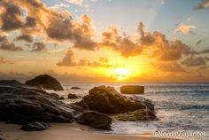 Praia da Conceição - Fernando de Noronha   Revelando a Foto - Pôr do sol na Praia da Conceição   Nerds Viajantes