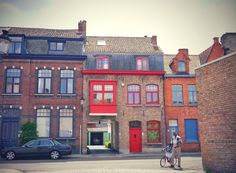 Colorful houses in Bruges, Belgium
