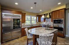 Great island!  See more great #kitchen ideas here: http://www.pinterest.com/obeo/killer-kitchens/