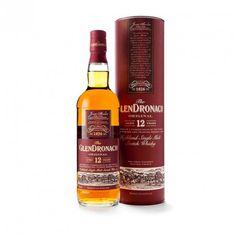 """THE GLENDRONACH 12 AÑOS  ha sido envejecido en barriles de Jerez, Oloroso y Pedro Ximénez. Es un whisky """"non chillfiltered"""" no ha sido tratado con muy bajas temperaturas antes del embotellado y no se le ha añadido tampoco caramelo. Ha obtenido dos premios; de """"Malt Maniacs Awards"""" y de """"International Wine & Spirit Competition""""."""