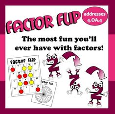 Freebie: This fast-paced game is a great way to for kids to explore with the concept of factors, allowing you to address the Common Core Math Standards with. Teaching Numbers, Teaching Math, Teaching Ideas, Math Classroom, Classroom Ideas, Math Multiplication, Maths, Factors And Multiples, Prime And Composite