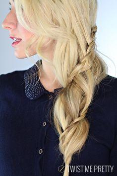 Spiral wraparound braid tutorial