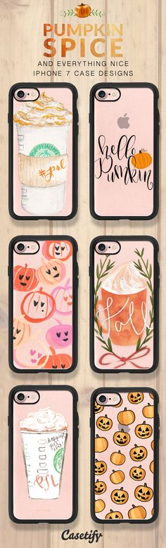 Pumpkin spice and everything nice. These are your perfect autumn iPhone 7 and iPhone 7 Plus cases. Shop them all here > https://www.casetify.com/artworks/fShrJSuQcE