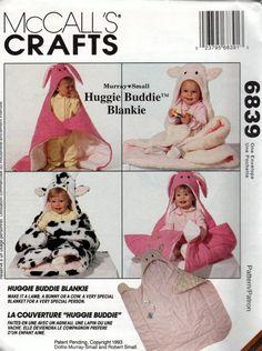 McCalls Crafts 6839 *** | Huggie Buddie Blankie Murray Small Design