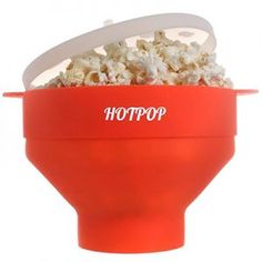 HOTPOP Reimagined Ditch the noisy electric hot air poppers, the slow stove top poppers, and the harmful microwave popcorn bags. HOTPOP popcorn popper will make your popcorn in minutes in a revolutionary silicone bowl. Best Popcorn Maker, Best Microwave Popcorn, Healthy Popcorn, Healthy Gourmet, Flavored Popcorn, All You Need Is, Just In Case, Great Northern Popcorn, Tips