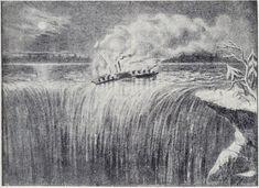 Steamer Caroline, burned and sent over Niagara Falls in History Niagara Falls History, Niagara Falls Pictures, Great Lakes Shipwrecks, Armies, Steamer, Buffalo, Michigan, Photographs, Memories
