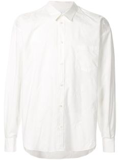 White cotton oversized shirt from doublet featuring a classic collar, a front button fastening, dropped shoulders, a chest pocket and a curved hemline. Doublet, Oversized Shirt, Brand You, Size Clothing, Hemline, Women Wear, Mens Fashion, Shirt Dress, Mens Tops