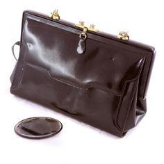 Bolso rígido en negro tipo 'lady' vintage