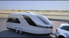 THE CARAVISIOHere's the latest and greatest futuristic design for a trailer, The App-Controlled, Yacht-Inspired RV of the Future   Autopia   Caravisio aims to deliver, with a wind tunnel-honed shape, modern interior, and computer-controlled air suspension that automatically levels itself with an app.Caravisio's aerodynamic shell maximizes fuel efficiency. Two single beds are arranged in a V in the front for travel, but they can be converted to a double bed for sleeping. The front sleeping…