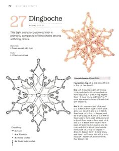 Crochet Snowflake Pattern, Crochet Stars, Christmas Crochet Patterns, Holiday Crochet, Crochet Snowflakes, Crochet Blocks, Crochet Mandala, Thread Crochet, Crochet Motif