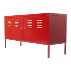 ikea ps red metal cabinet.