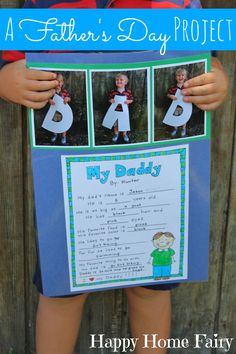father's day project - free printable