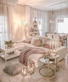 Home Interior Design .Home Interior Design Glam Living Room, Living Room Decor Cozy, Home And Living, Romantic Living Room, Living Room Goals, Decor Room, Beautiful Living Rooms, Small Living, Modern Living
