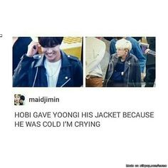 Awe. Hobi might get scared quickly, but he's such a gentlemen to everyone. I SHIP IT SO HARD!!!!!!!!!!